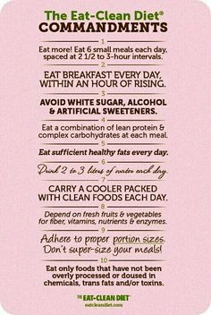 Clean eating commandments ...