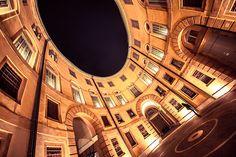 Hypnotic geometry - Rotonda Foschini, Ferrara Municipal Theater by StoryTravelers, via Flickr