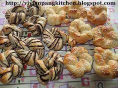 Chocolate Marble Flower Buns/ Water Roux Method(Custard Paste)