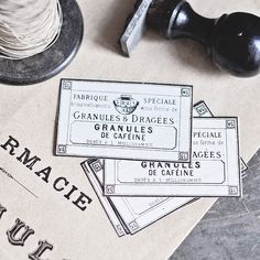 Antique French Apothecary Labels   Flickr - Photo Sharing!