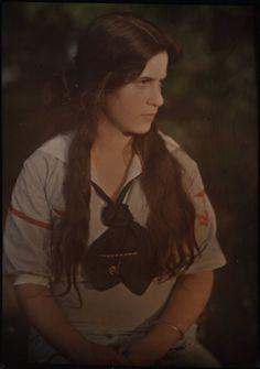 Katherine Stieglitz ca. 1910    Autochrome by Alfred Stieglitz