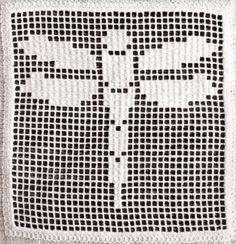 Dragonfly Filet   Crochet Free Pattern