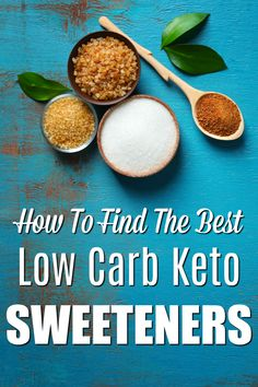 Sweets are a little tricky on the ketogenic diet. There are some keto sweeteners that won't completely derail you on your keto journey. Clean Recipes, Real Food Recipes, Healthy Recipes, Keto Recipes, Craving Sweets, Sugar Free Gum, Food Substitutions, Low Carbohydrate Diet, Diabetic Desserts
