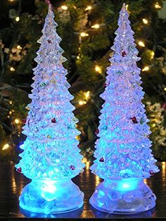 3 91 aud crystal christmas tree 7 color change led lamp night