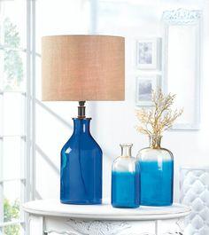 Blue Bottle #VaseSet #Vase #HomeDecor