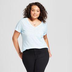 06fa4d050f4 Women s Plus Size V-Neck Short Sleeve T-Shirt - Ava   Viv™
