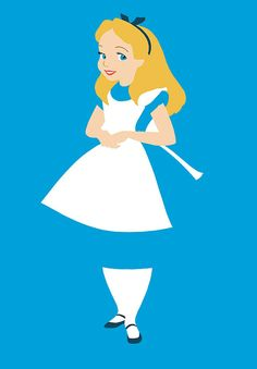 Disney Princess alice in wonderland Art - Wall Art Print Poster 16x23 Inch - Poster Geekery