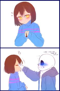 Sans really? We all know you like her eyes -_- u tried tho - Undertale - Sans E Frisk, Flowey Undertale, Sans X Frisk Comic, Frans Undertale, Anime Undertale, Undertale Memes, Undertale Drawings, Undertale Ships, Comic Anime