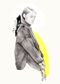 #illustration fashion illustration ness cerciello inspiration http://www.stories.com/
