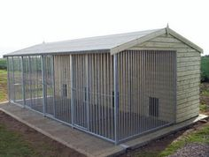 Note: Like the basic heighth, bars (maybe use iron fencing) Choosing Outdoor Dog Kennel - Home Pet Care