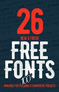 26 New Fresh Free Fonts #brushfonts #fonts #freefonts #freescriptfonts #freetypeface #freebies #handwrittenfonts #typography Graphic Design Lessons, Graphic Design Fonts, Font Design, Free Photoshop, Photoshop Design, Block Letter Fonts, Geometric Font, Free Typeface, Best Free Fonts