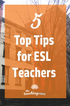 Want 5 top tips for teaching English As a Second Language students? Have ELL or ESL students you need to help? Click the pin to check out today's post on 5 quick tips to teach ESL. Don't forget to sign up for The Teaching Cove to access a free printables library of English teaching resources, organizational hacks and motivational tips! www.teachingcove.com