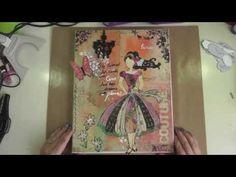 Mixed Media Paper Doll Canvas - YouTube