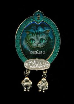 Disney Tim Burton Alice in Wonderland Cheshire Tweedle Dee Dangles Le 100 Pin   eBay