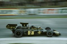 "Jacques Bernard ""Jacky"" Ickx (BEL) (John Player Team Lotus), Lotus 72E - Ford-Cosworth DFV 3.0 V8 (finished 3rd)  1974 British Grand Prix, Brands Hatch"