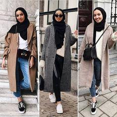 Mixing and matching hijabi outfits – Just Trendy Girls – Hijab Fashion Modest Fashion Hijab, Modern Hijab Fashion, Street Hijab Fashion, Casual Hijab Outfit, Hijab Fashion Inspiration, Hijab Chic, Muslim Fashion, Ootd Fashion, Mode Abaya