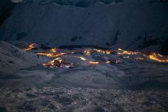 Gudauri at night. #Georgia #travel #ski #snow #mountains #resort #snowboard