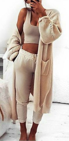 Cute outfit to walk around in, in your own house.