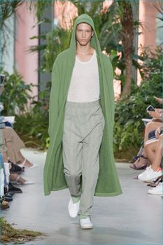 Lacoste champions casual dress with its terrycloth robes for spring-summer 2017.