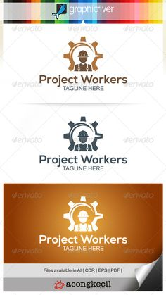 Project Workers — Vector EPS #worker recruitment #job • Available here → https://graphicriver.net/item/project-workers/7859727?ref=pxcr