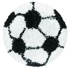 The Rug Market SHAGGY RAGGY SOCCER BALL BLACK/WHITE 3X3 ROUND $90.00
