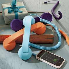 """Native Union Pop Phone. I want one of these. """"Let me just whip my full sized telephone out of my purse."""""""