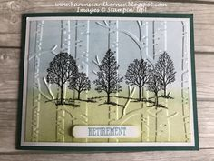 Tasteful Textures Retirement Card karenscardkorner: Stampin' Up! Tasteful Textures Retirement Cardkarenscardkorner: Stampin' Up! Masculine Birthday Cards, Masculine Cards, Happpy Birthday, Tarjetas Stampin Up, Born Pretty, Retirement Cards, Ex Libris, Fun Fold Cards, Embossed Cards