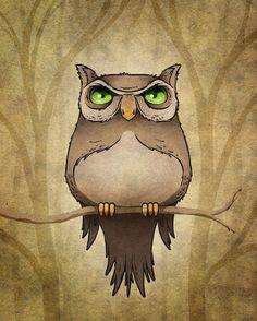 'Uwl' by Kuba Gornowicz on artflakes.com as poster or art print $17.33