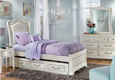 Sleek, sweet, and fashionable, the Kayla twin bedroom is a contemporary sleeping retreat for the fashionista in your life. Sweet dreams in style have never been easier!