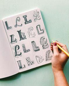 Likes, 137 Comments - Lauren Hom Graffiti Lettering Fonts, Hand Lettering Styles, Hand Lettering Tutorial, Hand Lettering Alphabet, Doodle Lettering, Graffiti Alphabet, Creative Lettering, Typography Letters, Lettering Design