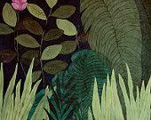 Articles similaires à Vert Jungle - illustration - giclée sur Etsy