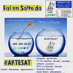 Cambia il tuo modo di #comunicare .... Pensa in Grande !!! Fai un Salto da #ARTESAT !!! www.artesat.it  #as96 #aspc #stgoasbl #staswpbl  #stdwasfbpg #stdwfbac #sttcanot #stasappi #sttegfbac #sttggsp