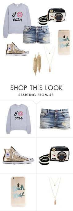 """""""Teen"""" by prettylittlefandom ❤ liked on Polyvore featuring Converse, Betsey Johnson and Capwell + Co"""