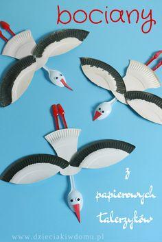 Paper Plate Storks