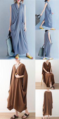UP to off time-limited Tienda Fashion, Look Retro, Fashion Outfits, Womens Fashion, Fashion Trends, Altered Couture, Kimono, Handmade Dresses, Simple Dresses