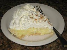 Bluebonnet Cafe Coconut Cream Pie One of the best coconut cream pies you'll eat anywhere can be found at the Bluebonnet Cafe in Marble Falls, Texas. Just so happens I have the recipe handy so you can make a little magic in your own kitchen.