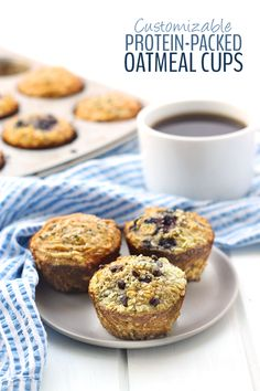 With 11 grams of protein in each cup, these customizable protein-packed oatmeal cups make for the perfect breakfast on the go. Keep them in the freezer so you always have a healthy breakfast waiting for you!