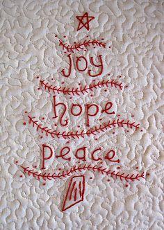 Joy - Hope - Peace Embroidery