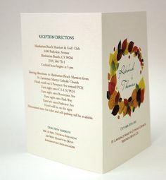 $1.25 each Autumn Leaves Tea Length or mini Wedding by WeddingMonograms