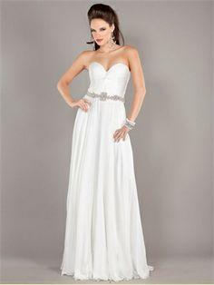 Strapless Sweetheart Beaded Waist Belt White Prom Dress PD11251 www.dresseshouse.co.uk $199.0000  ----2013 Prom Dresses,2013 Prom Dresses UK,2013 cocktail dresses,prom dresses 2013