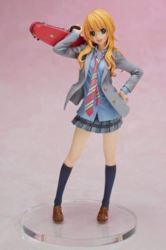 Your Lie in April - Kaori Miyazono figure Premium Box: An Aniplex+ Exclusive item! This Premium Box features the free-spirited heroine of the popular anime series Your Lie in April, Kaori Miyazono. This 1/8 scale fully painted figure features details of Kaori's bright smile, her violin case, and school uniform. With her long wavy hair dancing in the wind and an additional facial part Kaori's vibrant personality comes to life! Also included in this Pemium Box set: Mini signboard featuring…