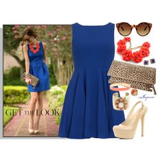 """""""'Royal Blue Eclectic'"""" by ladyjaynne on Polyvore"""