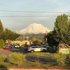 """In the words of Clark Griswold Sr. """"It's a beaut Clark. It's a beaut."""" #orting #sundayfunday #mtrainier #spring #thecaffeinatedrealestateagent #pacificnorthwest #beautiful #mystate #washington #blessed"""
