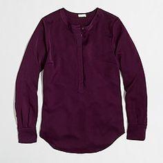 Factory draped henley tunic--beautiful color