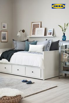You're not dreaming. The IKEA Bedroom Event is on now until June Get . You're not dreaming. The IKEA Bedroom Event is on now until June Get … You're not dreaming. The IKEA Bedroom Event is on now until June Get off all bed frames. Room, Bedroom Furniture Beds, Bedroom Design, Bed Furniture, Home Decor, Daybed Room, Small Bedroom, Guest Room Office, Ikea Bedroom