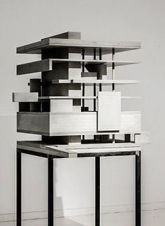 marte.marte architects – Exhibition 'concrete works' , office building. Lustenau, Austria, 2002.  Via Archimodels