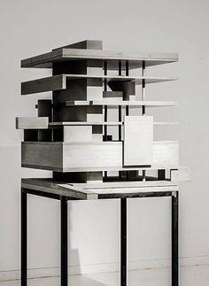 marte.marte architects – Exhibition 'concrete works' , office building. Lustenau, Austria, 2002.  Via Archimodels