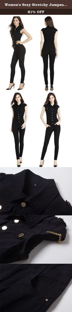 """Women's Sexy Stretchy Jumpsuit Skinny Cute Outfit Large. Inch(0-1"""" error due to manual measurement S: Shoulder 12.5"""", Bust 28.7"""", Waist 25.9"""", Hip 32.6"""", Thigh 17.7"""", Leg-opening 9.8"""", Top-length 17.7"""", Full-length 55.5"""" M: Shoulder 12.9"""", Bust 29.9"""", Waist 27.5"""", Hip 33.8"""", Thigh 18.8"""", Leg-opening 10.2"""", Top-length 18.1"""", Full-length 56.6"""" L: Shoulder 13.7"""", Bust 31.4"""", Waist 29.1"""", Hip 37"""", Thigh 20.4"""", Leg-opening 11"""", Top-length 18.5"""", Full-length 57.4"""" XL: Shoulder 14.1"""", Bust 33""""..."""