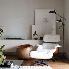 Sillón blanco eames #sillones #hogar