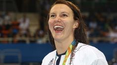Jazz Carlin takes silver in 400m freestyle. 7th August 2016